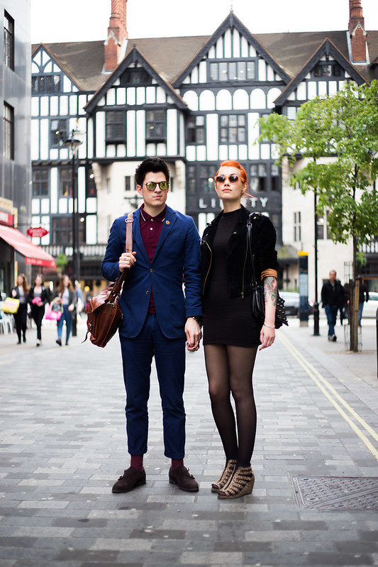 Street Style - Carl Fridh Kleberg & Sara Larsson, Argyll Street