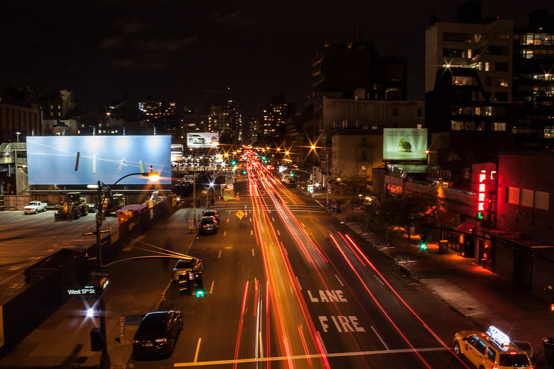 Manhattan night traffic