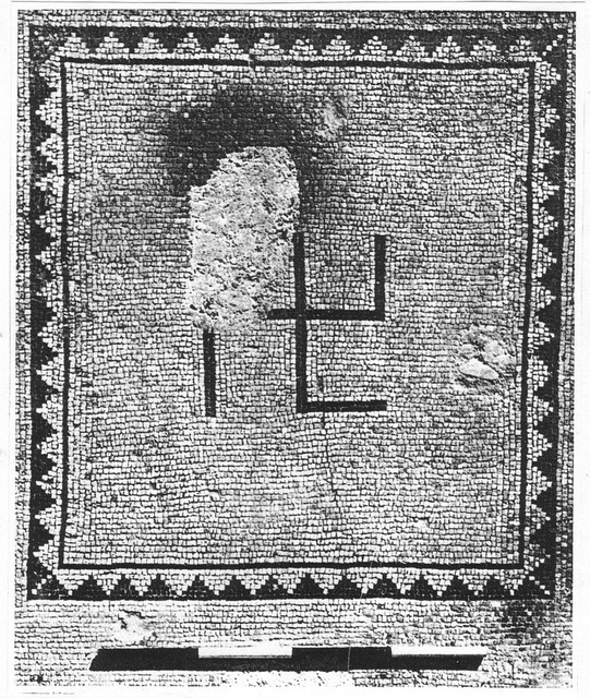 DOC11/1404 - Swastika in a mosaic from Ein-Gedi, Israel