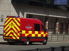 West Midlands Fire Service Technical Rescue - red van - Broad Street
