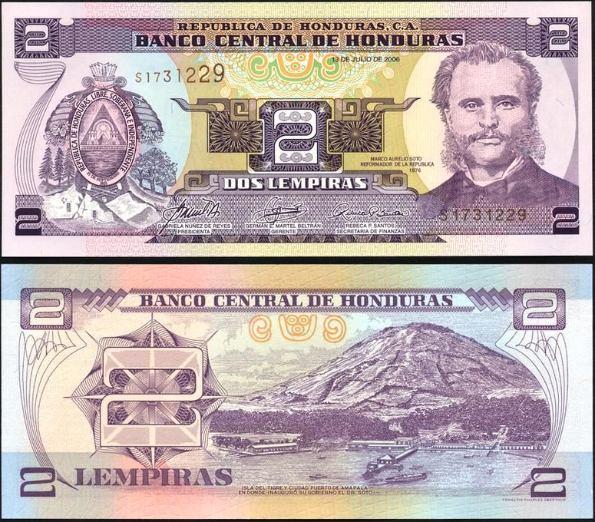 2 Lempiras Honduras 1998-2006, Pick 80A
