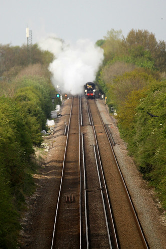 "34067 ""Tangmere"" takes on Martin Mill Bank"
