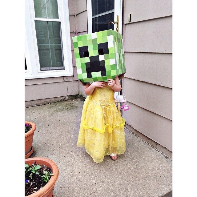 This is what happens when you have two older brothers. Princess + creeper. #missz
