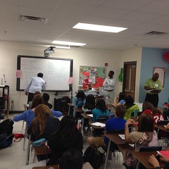 Artist Outreach uses music to teach in Ms. Coffey's Science class!