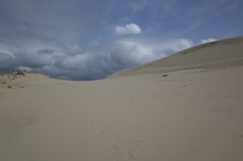 clouds over dunes