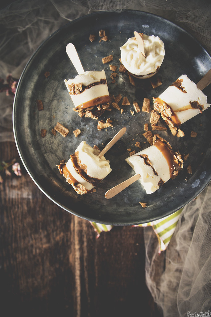 Dulce de Leche Cheesecake Pops with Rumchata {Pass the Sushi}