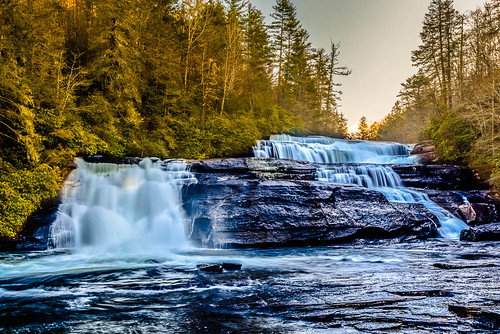 water landscape waterfall unitedstates northcarolina wideangle pisgahforest triplefalls dupontstateforest