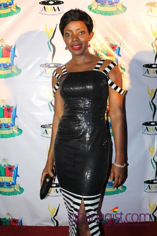 Shirley Frimpong-Manso at Africa Movie Academy Awards 2014