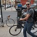 Small photo of Adam White and his bike
