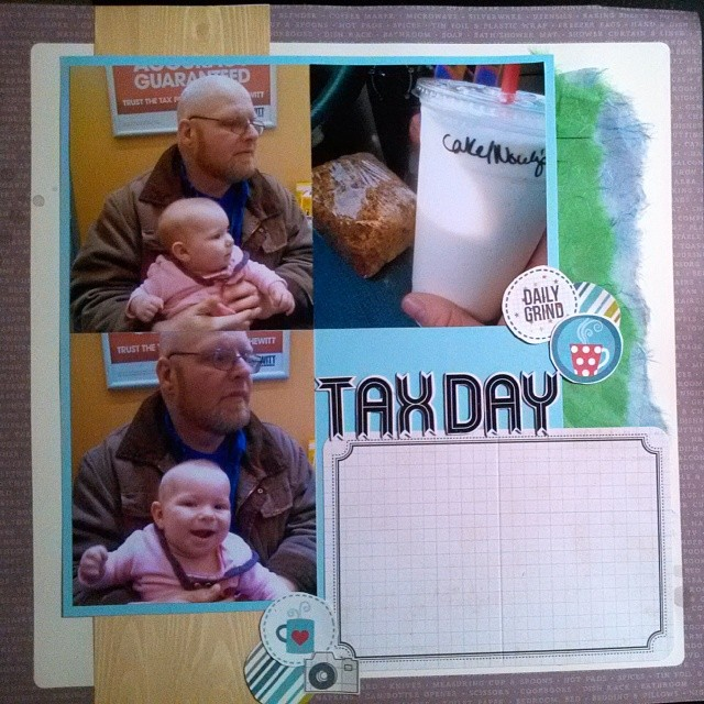LOAD514 - Scrapbooking layout about getting taxes done