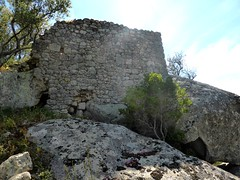 Ruines d'une tour du castellu médiéval de Nota