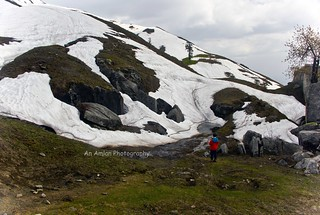 Snow Patches between Jogidug and Kharmandari (Hampta Circuit)