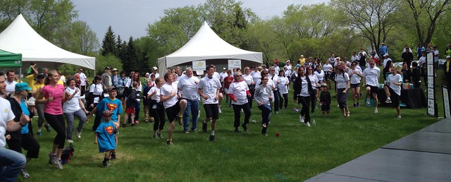 Roughly 150 runners, walkers and volunteers made Hope's 2014 Race for Recovery a success. Each person touched by cancer, each one making a difference in the lives of Saskatoon cancer patients.