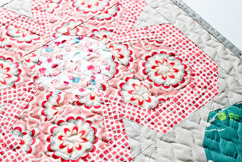 Deedee's Swedish Blooms Mini Quilt