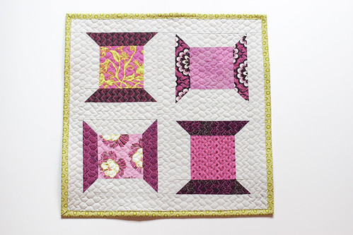 Holly's Classic Thread Spools Mini Quilt