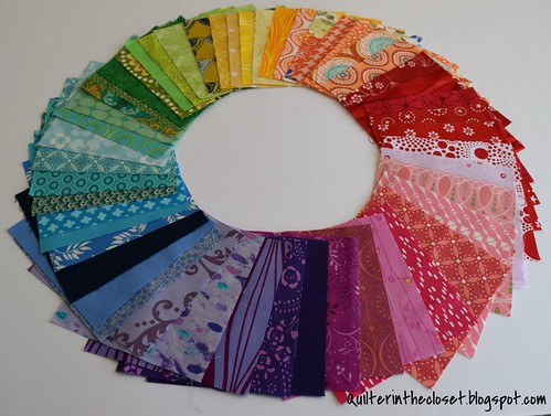 Color Wheel of Charm Squares