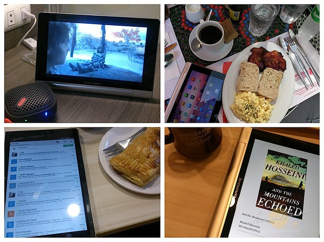 Using the yoga tablet for movies, emails, ebooks or just eating along with it