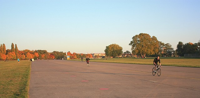 Former military runway, Tempelhof Park, Berlin, Germany