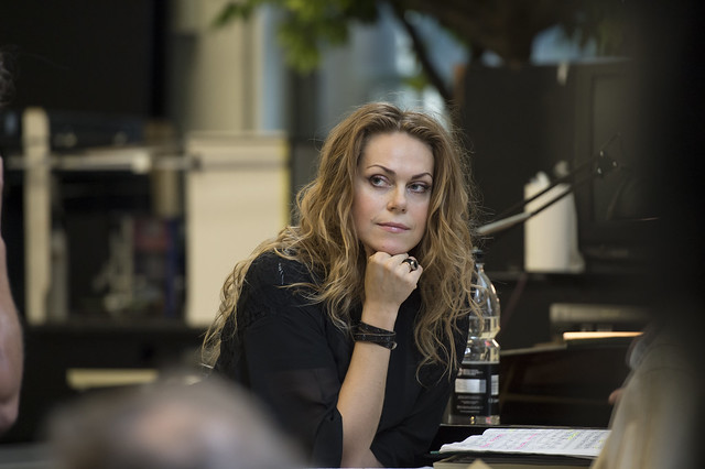 Kristīne Opolais in rehearsals for Manon Lescaut ©ROH/Bill Cooper, 2014