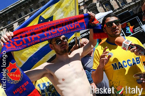 Tifosi CSKA Mosca Maccabi Tel Aviv