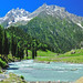 The SINDH RIVER flowing through the Lush Green SONAMARG VALLEY
