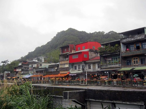 view of shifen from the bridge