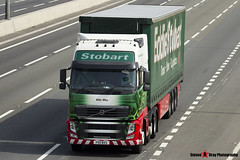 Volvo FH 6x2 Tractor with 3 Axle Curtainside Trailer - PX11 BXS - H4655 - Ellie May - Eddie Stobart - M1 J10 Luton - Steven Gray - IMG_5938
