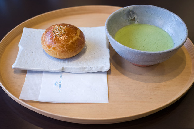 一之舩入 un cafe Le Petit Suetomi 生クリーム入りブリオッシュあんぱん(つぶあん)