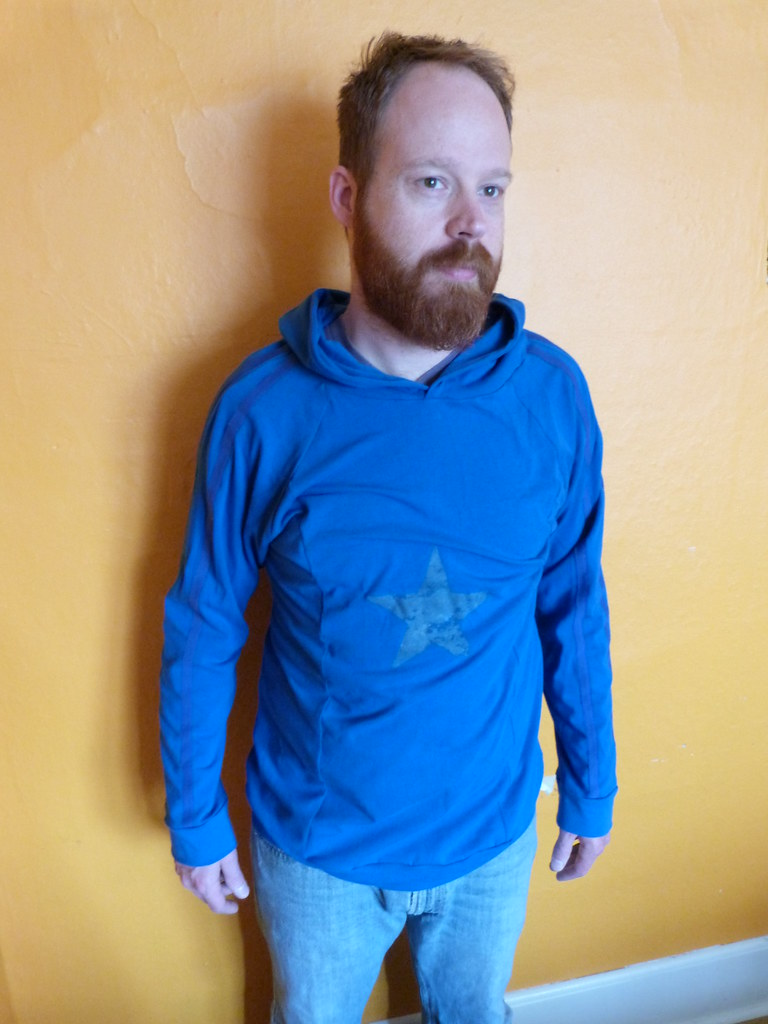 Blue Star Hoodie In Cotton