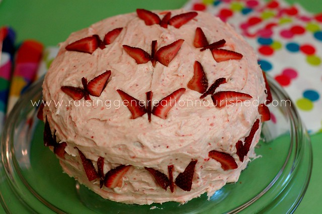 Strawberry Birthday Cake Gluten Egg Nut Dye Free Raising
