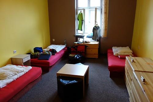 ホステルの部屋