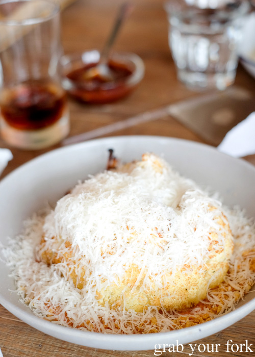 Roast cauliflower with romesco, parmesan and brown butter crumbs at Papi Chulo Manly