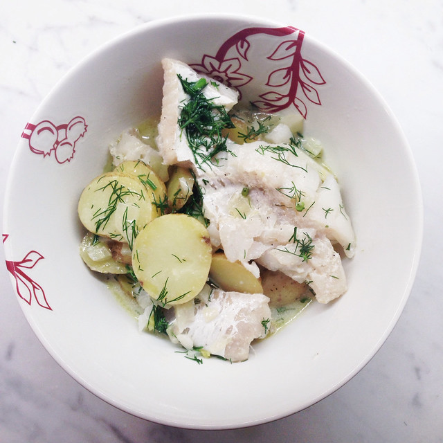 Fish stew with potatoes and fennel