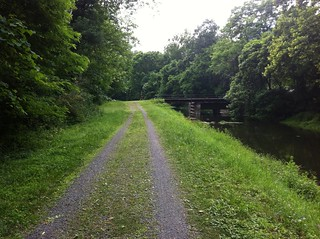 The towpath we rode most of the day today.