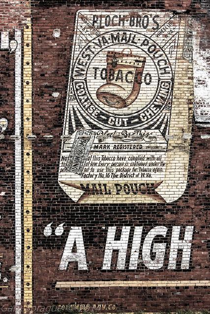 Bloch Bro's Factory # 16 W.Va Mail Pouch Ghost add