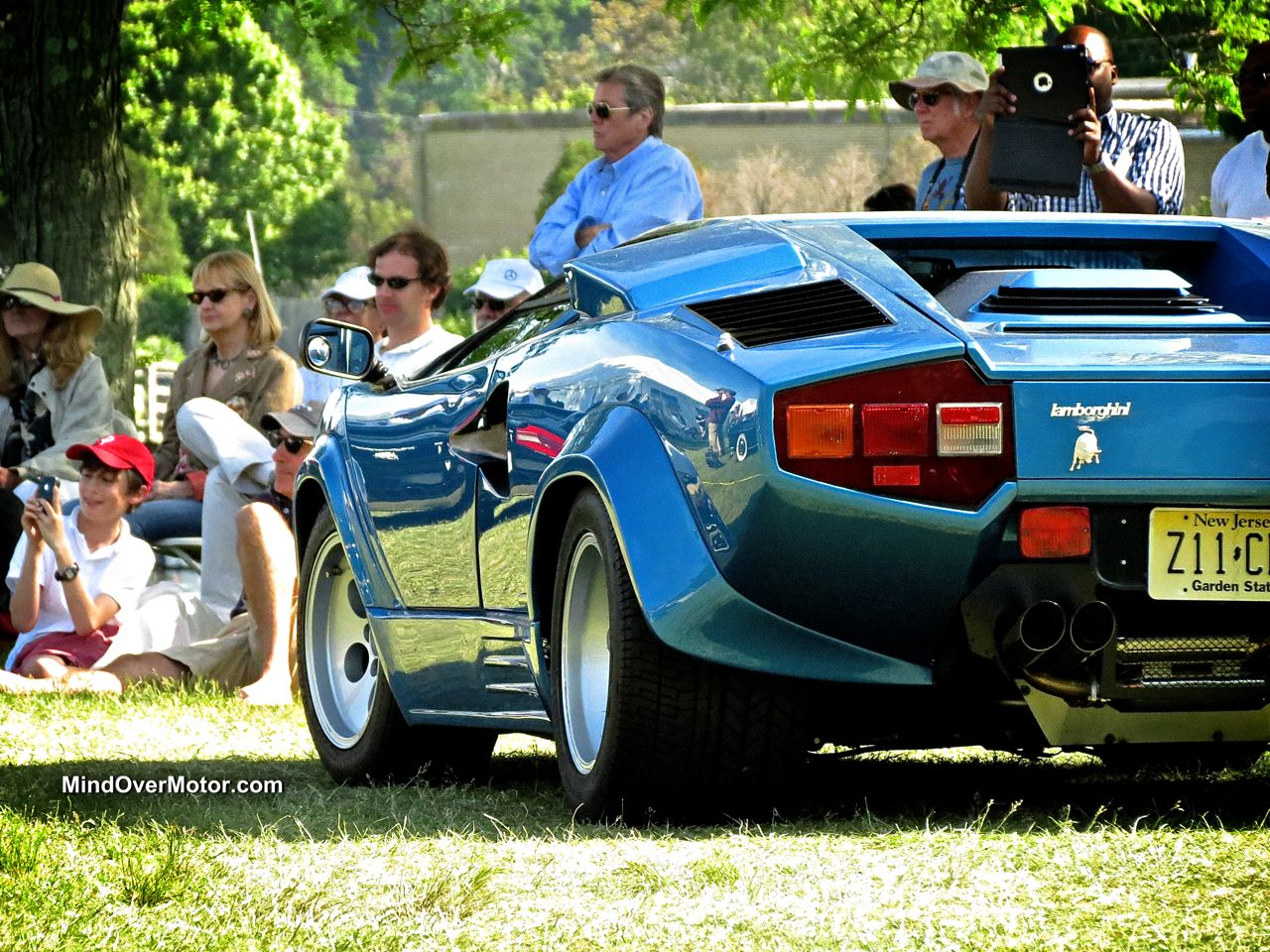 Blue Lamborghini Countach