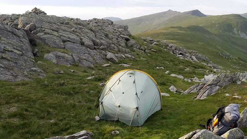 Last night's camp on White Maiden #sh