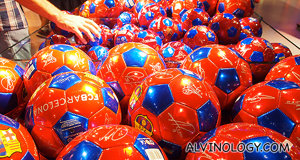 FCB footballs