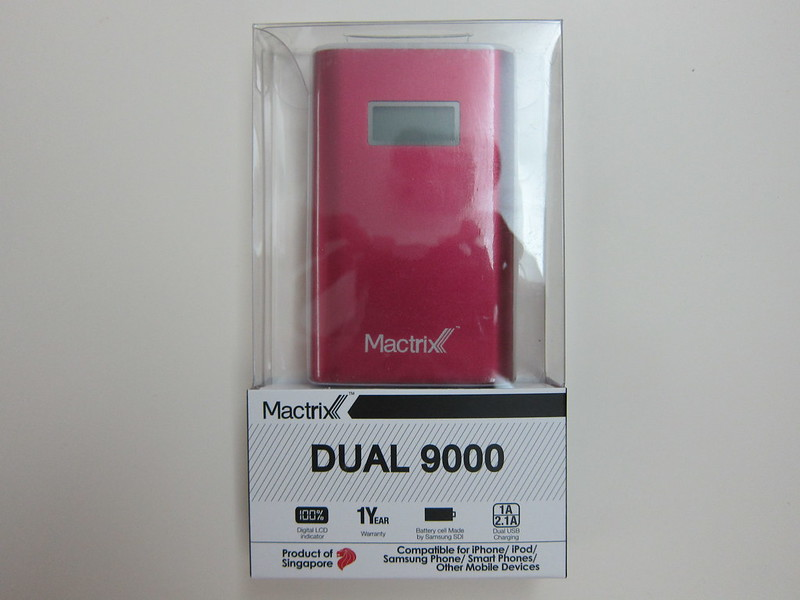 Mactrix Dual 9000 Portable Battery - Packaging Front