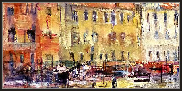 Venecia pintura palacios paisajes italia ciudades historia - Cuadros en casa ...