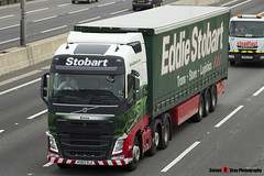 Volvo FH 6x2 Tractor with 3 Axle Curtainside Trailer - KX63 VLZ - H4088 - Emma - Eddie Stobart - M1 J10 Luton - Steven Gray - IMG_0916