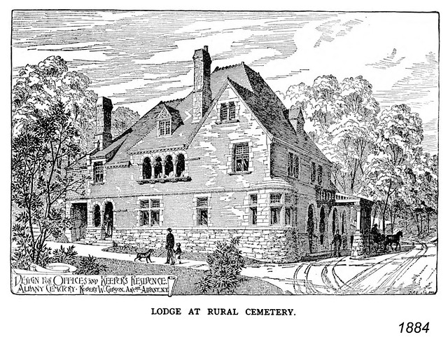 lodge at rural cemetery 1884