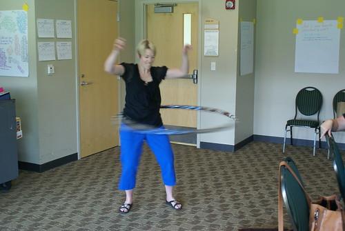 Beth hula hooping
