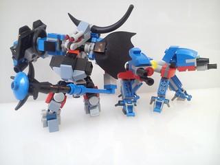 A YATES Ankole and two BONE-LEGS of MOC