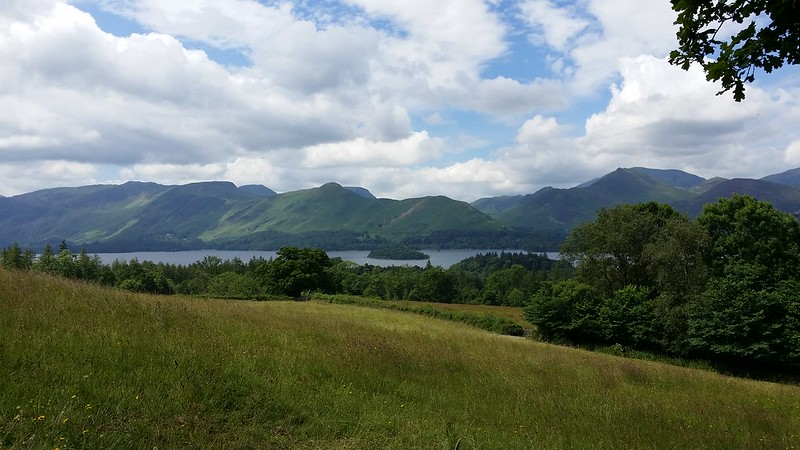 Derwentwater on the ascent to Walla Crag