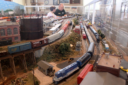 Model Train display inside the Jackson, TN Depot