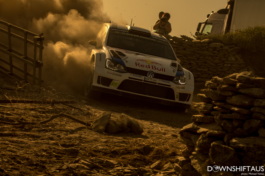 WRC competitors compete in Heat 3 of Rally d'Italia Sardegna.