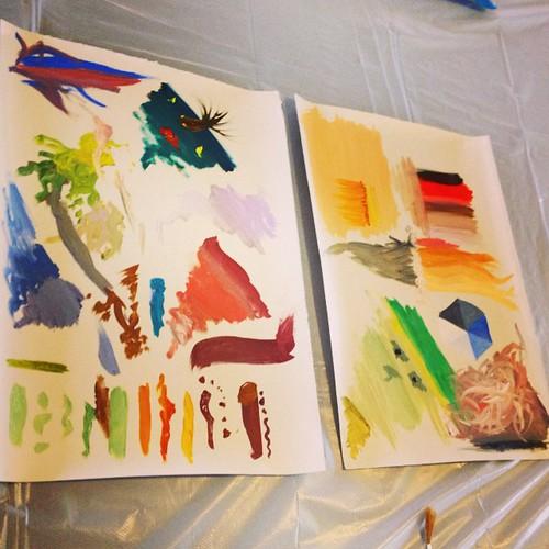 Oil paint doodles with @davidavidavidavid