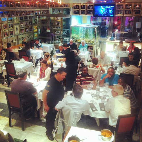 Solar Dos Presuntos: buzzy, boozy, bustling, big screen TV -- pretty much the epitome of the Portuguese restaurant.