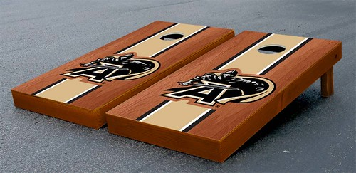 Army Black Knights Cornhole Game Set Rosewood Stained Stripe